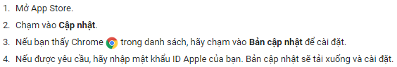 Kiểm tra cập nhật iphone ipad