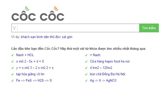 Công cụ tìm kiếm Coccoc