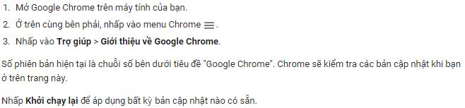 Hướng dẫn kiểm tra phiên bản chrome