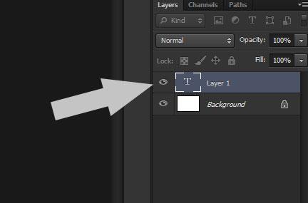 Chọn đúng layer để viết chữ