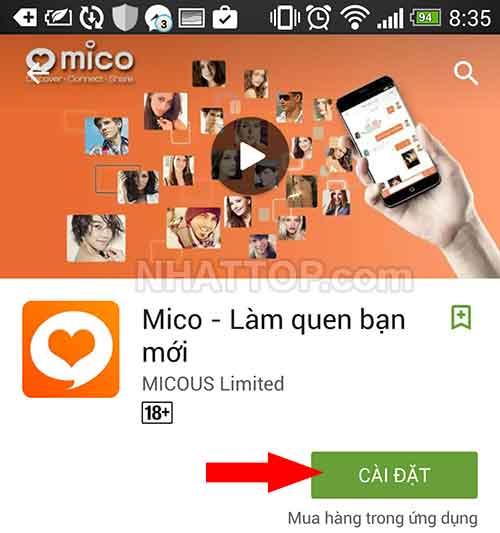 Cài đặt ứng dụng MICO