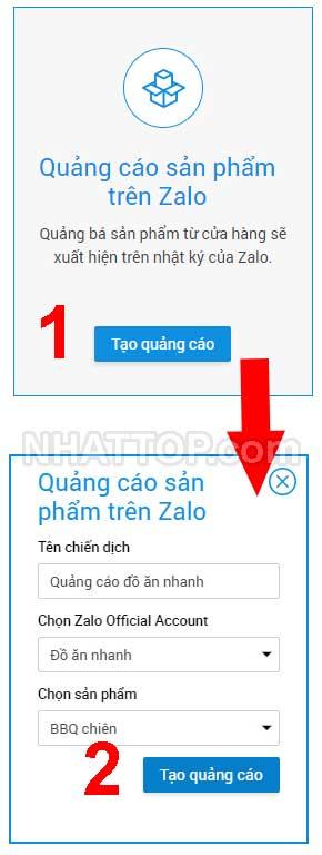Chọn hình thức quảng cáo sản phẩm trên Zalo