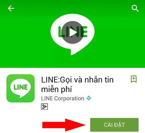 Cài đặt ứng dụng Line