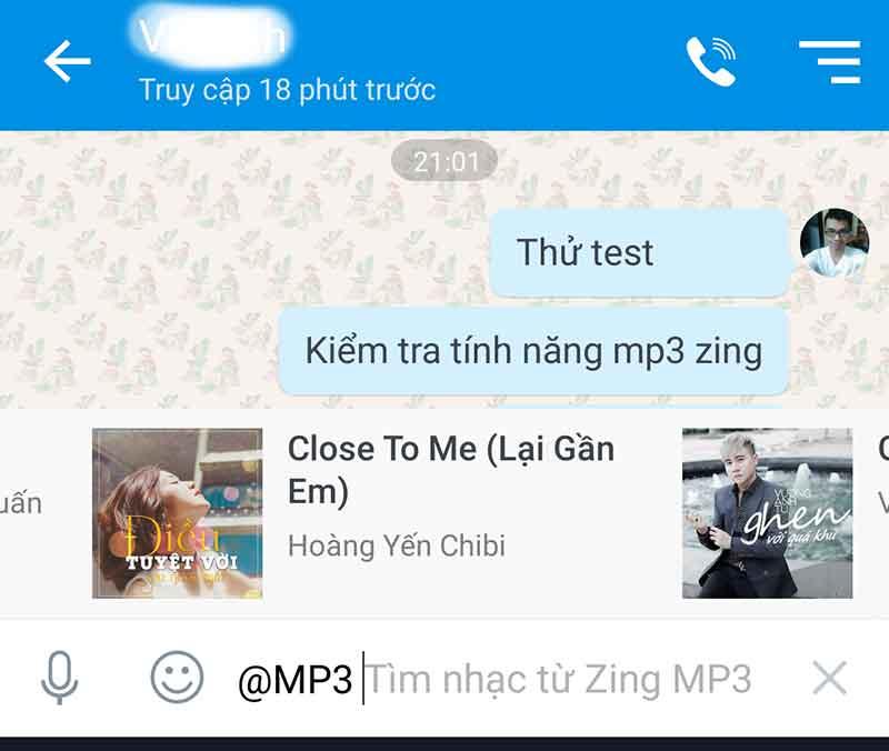 Lựa chọn nhạc theo hệ thống của zing mp3