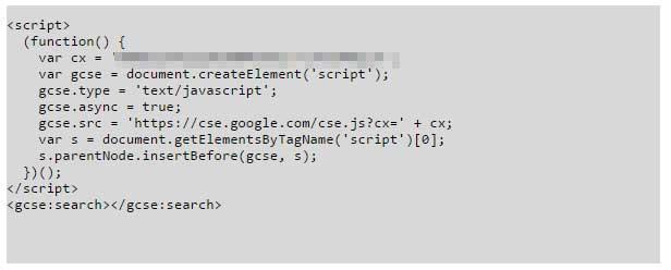 Code tìm kiếm tùy chỉnh