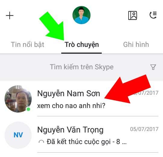 Chọn tin nhắn muốn xóa trên Skype