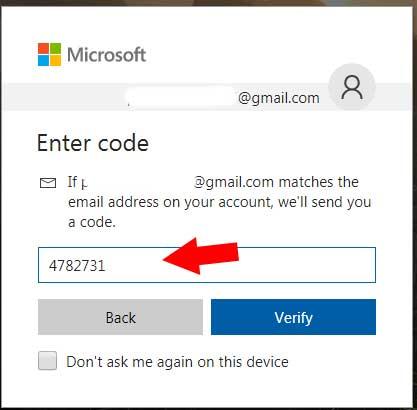 Nhập mã xác thực Skype