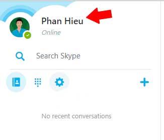 Quản trị tài khoản Skype
