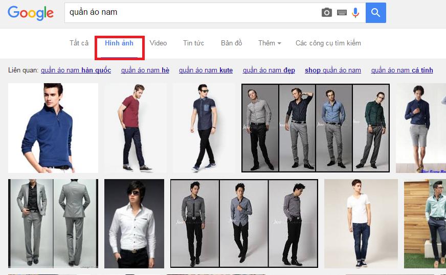 Tab hình ảnh ở google search