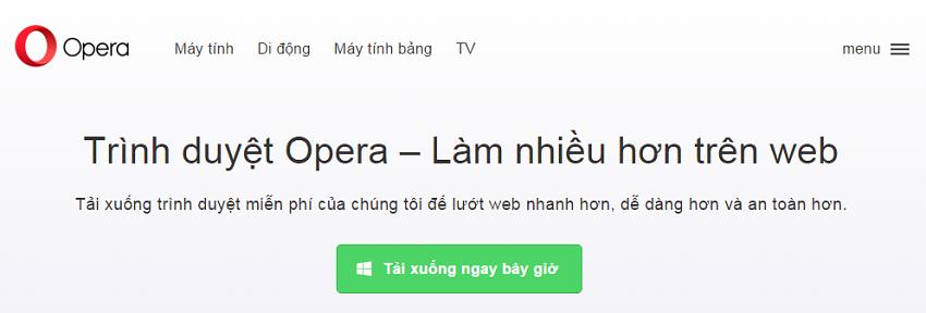 Tải trình duyệt opera mini