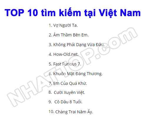 Top 10 tại việt nam