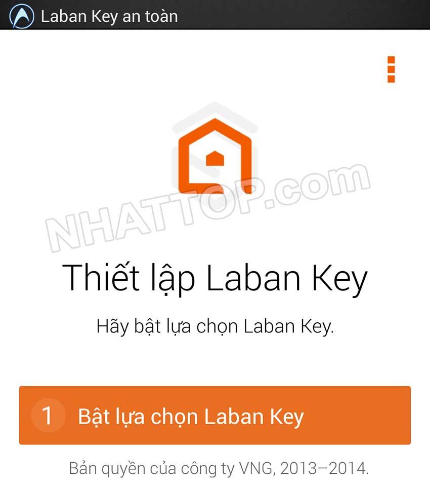 Bật lựa chọn laban key
