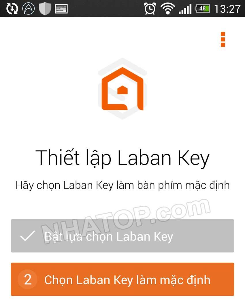 Chọn laban key làm mặc định
