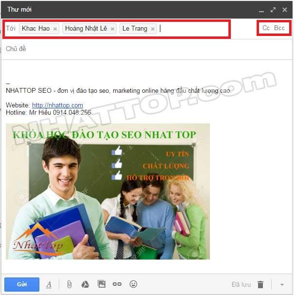 Nhập nhiều địa chỉ gmail