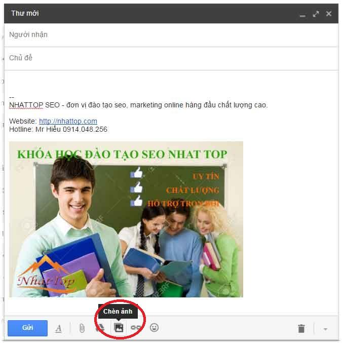 Chèn ảnh vào gmail