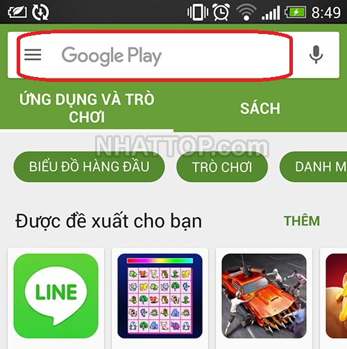 Giao diện CH PLAY