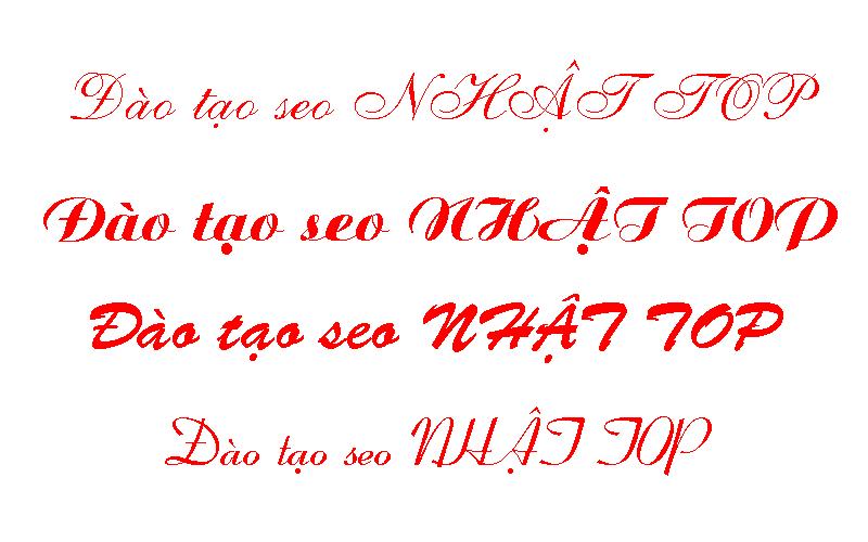 Một vài font chữ vni 1
