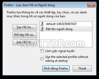Quản lý đăng nhập người dùng mới trên firefox