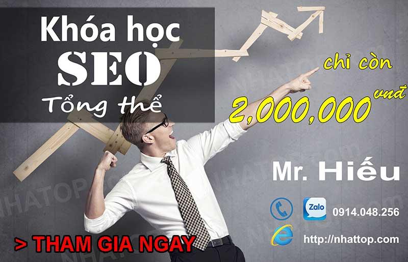 Khóa đào tạo seo web