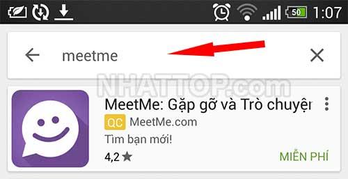 Tìm kiếm ứng dụng MeetMe