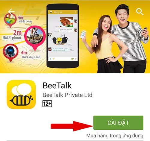 cài đặt BeeTalk