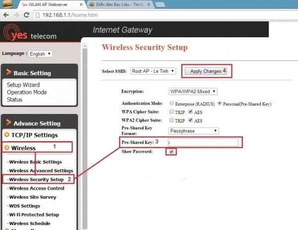 Cách đổi pass wifi vnpt