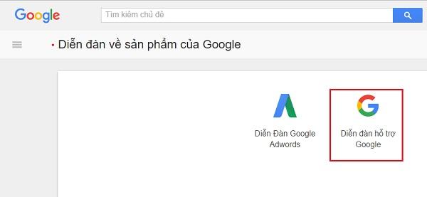 Diễn đàn hỗ trợ Google