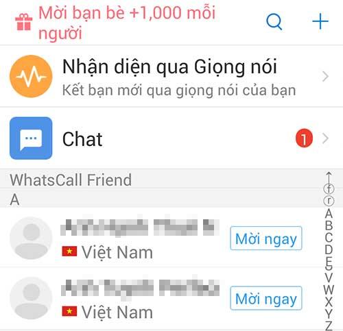 Danh bạ WhatsCall
