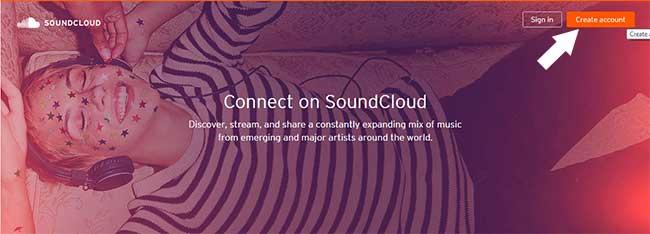 Tạo tài khoản Soundclound