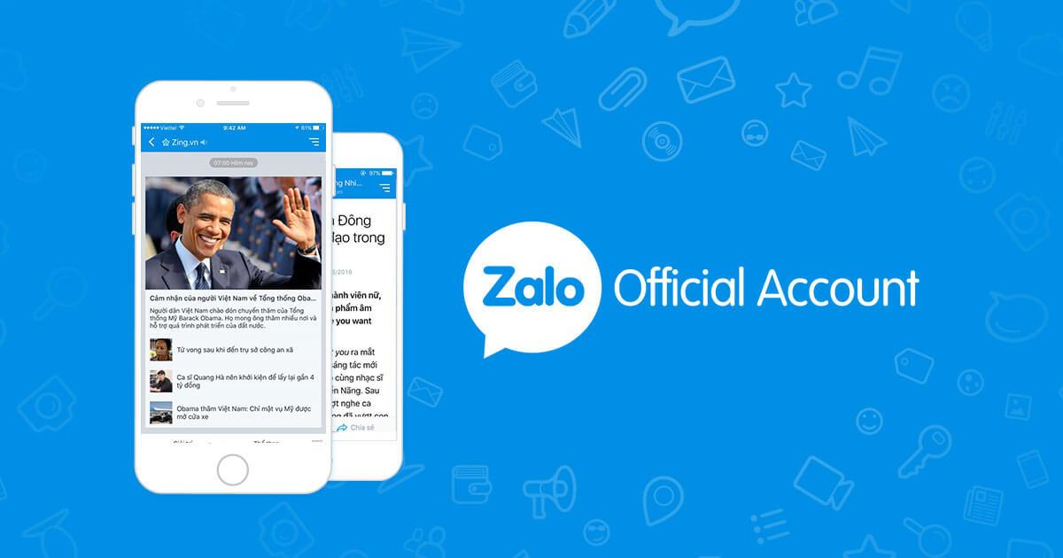 Tổng hợp về Zalo Official Account - Phần 1