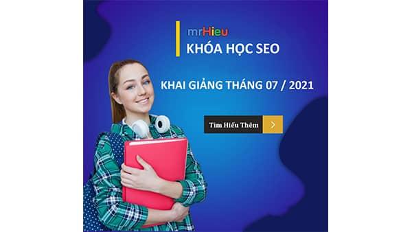 Lịch học seo tháng 07/2020 tại Hà Nội